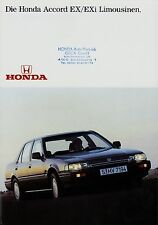 Honda Accord EX EXi Limousinen Prospekt 80er J. Autoprospekt Broschüre brochure