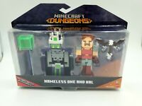 Minecraft Dungeons NAMELESS ONE AND HAL Figures Battle Accessories Mojang, New