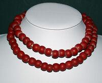 Old korallrote prosser bohemian Dogon trade beads