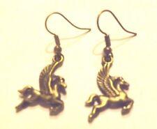 Boucles d'oreilles bronzes  pégase ( cheval ailé )