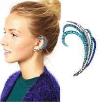 Hot Fashion Diamond Feather Ear Cuff Style Earring Ear Wrap Arc