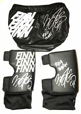 WWE FINN BALOR RING WORN HAND SIGNED TRUNKS KNEEPADS AND SLEEVE WITH PIC PROOF