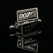 New Stainless Steel Silver Vintage Men's Wedding Gift Film 007 Cuff Links