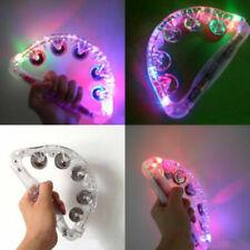 Sensory LED Light Up Toys Flashing Tambourine Musical Instrument Shaking Toy G9X