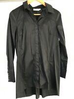 BLUE ILLUSION XS or 8 longer style long sleeve black shirt