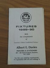 SWANSEA CITY FIXTURE LIST 4 PAGE BOOKLET 1989/90