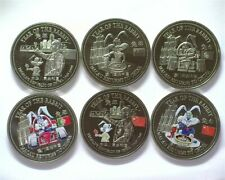 MACAU RETURNS TO CHINA 1999 TRADE DOLLAR 6 PROOF COIN SET 3 ARE COLORED