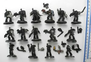 15 DEATHWATCH MARINES Plastic Space Marine Army Kill Team Warhammer 40K 93