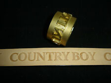 Leather Embossing Machine Roller Country Boy pattern Solid Brass