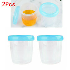 2X Breast Milk Storage Bottle Cups Freezer Collection Container w/Leak Proof Lid
