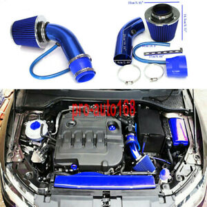 """3"""" Universal Auto Car Cold Air Intake Filter Aluminum Induction Hose Pipe Kit"""