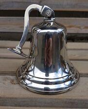 Antique Brass Wall Bell Vintage Ship's School Pub Last Orders Dinner Door 3Inch