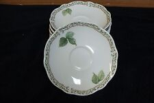 """Noritake Primachina Lot of 4 6"""" Saucer for Coffee Cups Royal Orchard 9416 Japan"""