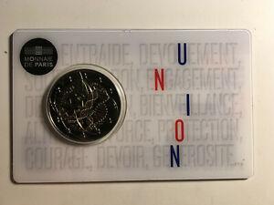 2 EURO FRANCE 2020 RECHERCHE MEDICALE UNION COMMEMORATIVE NEUVE