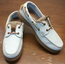 ST. JOHN'S BAY LEATHER BOAT SHOES.........SIZE: 8 M........EXCELLENT CONDITION