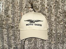 Moto Guzzi Eagle Cap/Hat...Sandwich Bill KHAKI and BLACK CP85
