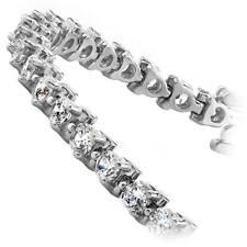 Diamond Tennis Bracelet 4.00 CT Round Cut 14k White Gold 100% Natural Certified