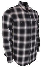 New Saint Laurent YSL Men's $690 455433 Black Cotton Flannel Western Plaid Shirt
