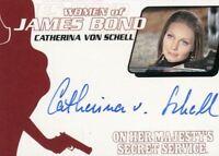 James Bond Archives 2014 Edition Catherina Von Schell Autograph Card WA41