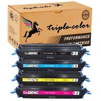 4 Color Toner Combo Set For HP LaserJet 1600 2600 2600n 2605 2605dnt Q6000A 124A