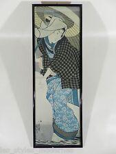 Japan Offsetlithographie ° GEISHA mit Schirm ° Belserdruck Stuttgart