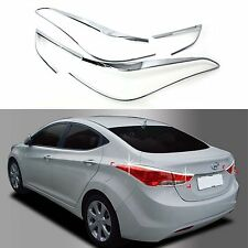 Chrome Rear Tail Light Lamp Molding Trim Cover for 11-13 Elantra 4/2 DR