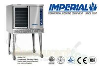 IMPERIAL COMMERCIAL CONVECTION OVEN SINGLE DECK DEPTH NATURAL GAS MODEL ICV-1