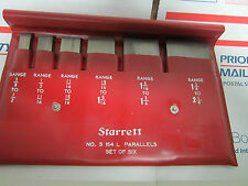 STARRETT BROWN SHARPE 154 L PARALLELS SET AS IS METROLOGY INSPECTION BIN#25