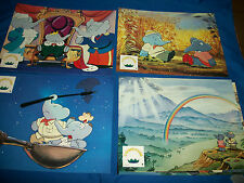 "BABAR the MOVIE Set of 7 Original French Lobby Cards ""le Triomphe de BABAR"" 1989"
