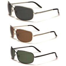 L/XL Wide Frame Polar Spex Men's Polarized Fishing Golf Aviator Style Sunglasses