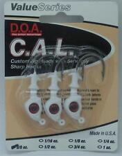 DOA 87421 Cal Jighead White 3/8 Oz 20998
