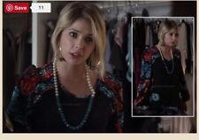 Hanna Marin Floral Dress And Necklace