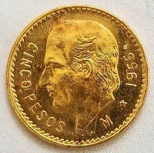 1955 M Cinco Pesos  - Mexico Gold Coin Estados Unidos Mexicanos