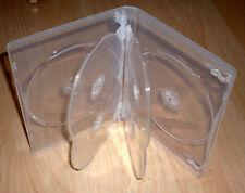 3 DVD Hüllen Case Cases 6fach 6er durchsichtig transparent für 6 DVDs Neu