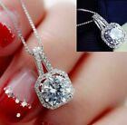 "Fashion Women Pendant Crystal Statement Chain Bib Necklace Jewelry W/19"" Chain"