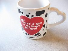 """FTD """"Spot in My Heart"""" dalmation background heart handle coffee mug"""