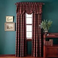 """CHAPS Home Curtain YORKSHIRE Size: 54 x 84"""" NEW Plaid Lined Interlined Window"""