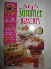 Gold Medal Simple Summer Desserts Cookbook 1998 20 Chilly Do-Ahead Recipes