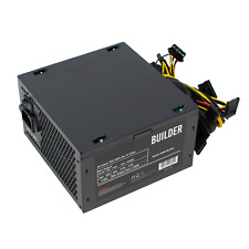 600W PC BUILDER COMPUTER PSU ATX POWER SUPPLY UNIT with 12cm Silent Black Fan