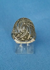 ARGENT CREATIONS 92.5 STERLING SILVER MARCASITE RING SIZE 6