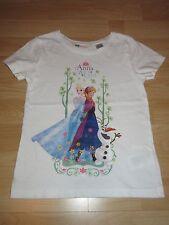Frozen H&M T-Shirt  Gr. 110 116 Elsa Anna Eiskönigin süß Disney Weiß