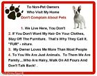 Funny Dog Chihuahua House Rules Refrigerator / Magnet Gift Card Insert