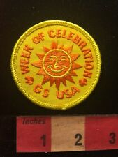 Happy Sun Face - WEEK OF CELEBRATION - Girl Scouts Patch 817