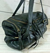 Topshop Black Genuine Leather Mini Holdall Style Shoulder Tote Bag Handbag