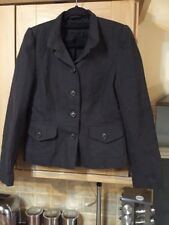 Very Smart Charcoal Grey Blazer By New Look Size 14