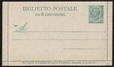 STORIA POSTALE REGNO 1906 Biglietto Postale 5c NUOVO (ZUD)