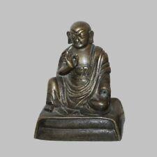 RARE! MUSEUM QUALITY SINO-TIBETAN GILT-BRONZE STATUE OF LAMA, 18TH CENTURY