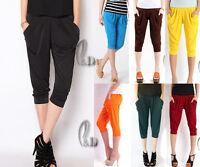 Womens Soft Casual Hippie Baggy Short Harem Yoga Beach pants AU SELLER P031