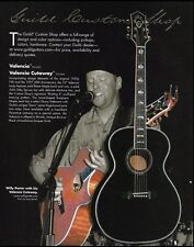 Willy Porter Guild Custom Shop Valencia Cutaway acoustic guitar 8 x 11 ad print