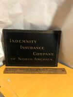 Vintage Indemnity Insurance Co. Of North America Wood/tin PLAQUE Sign 12 3/8""